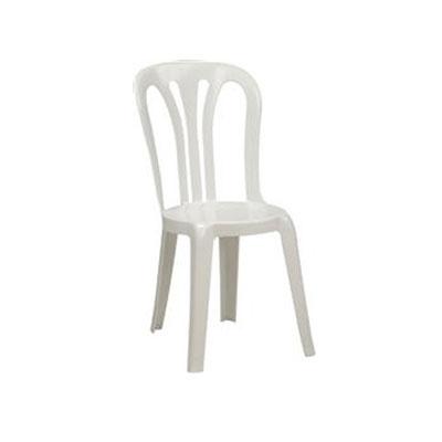 Hvid plastik stol til udlejning